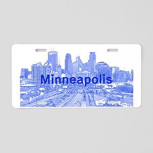 Minneapolis_17X9_Downtown_B Aluminum License Plate
