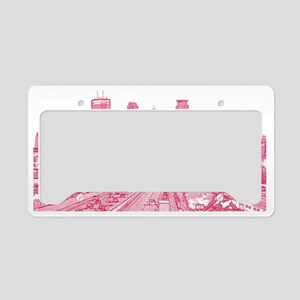 Minneapolis_17X9_Downtown_Red License Plate Holder