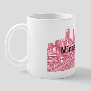 Minneapolis_17X9_Downtown_RedBlack Mug