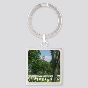 Cost of Freedom Square Keychain