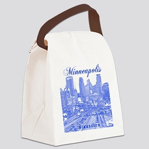 Minneapolis_10x10_Downtown_Blue Canvas Lunch Bag