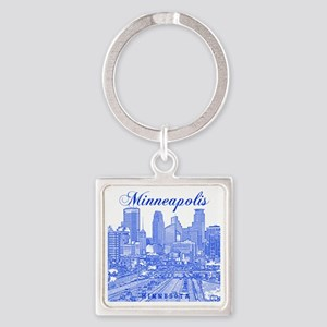 Minneapolis_10x10_Downtown_Blue Square Keychain