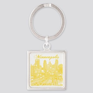 Minneapolis_10x10_Downtown_Yellow Square Keychain