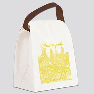 Minneapolis_10x10_Downtown_Yellow Canvas Lunch Bag