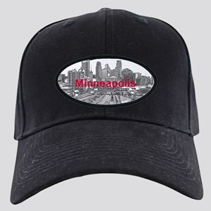 Minneapolis_17X9_Downtown_BlackRed Black Cap
