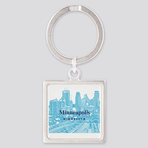 Minneapolis_10X10_v1_Downtown_Blue Square Keychain