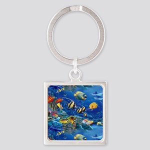Tropical Fish Square Keychain