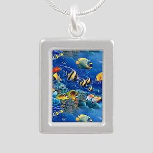 Tropical Fish Silver Portrait Necklace