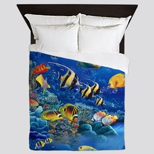 Tropical Fish Queen Duvet