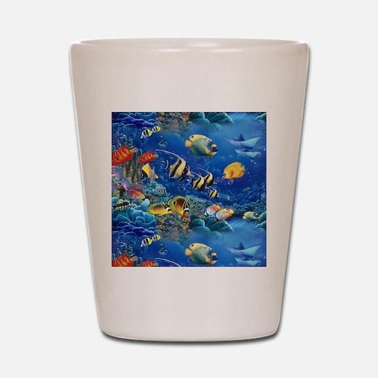 Tropical Fish Shot Glass