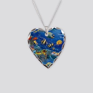 Tropical Fish Necklace Heart Charm