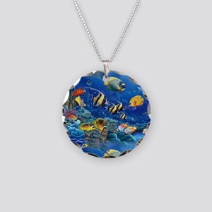 Tropical Fish Necklace Circle Charm