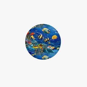 Tropical Fish Mini Button