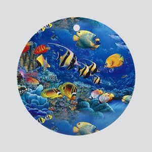 Tropical Fish Round Ornament