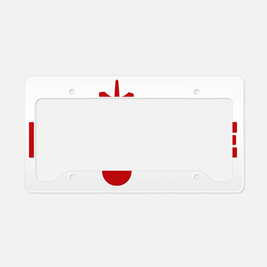 red Lighthouse1 License Plate Holder