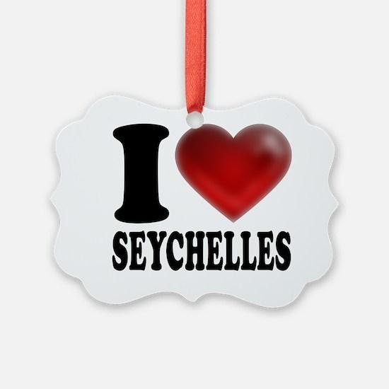 I Heart Seychelles Ornament