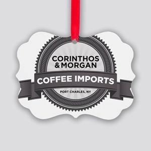 Coffee Imports Picture Ornament