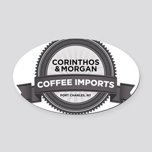 Coffee Imports Oval Car Magnet