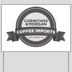 Coffee Imports Yard Sign