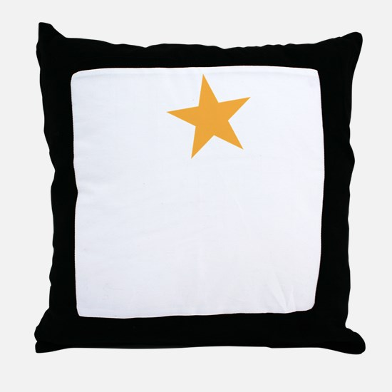 haunted star Throw Pillow