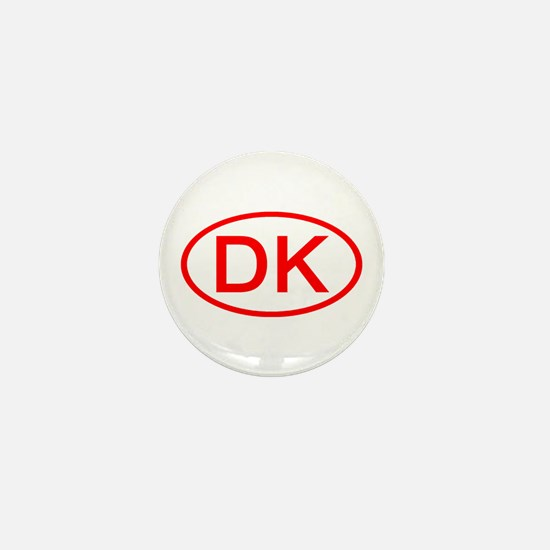 DK Oval (Red) Mini Button