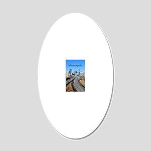 Minneapolis_8X13_Skyline 20x12 Oval Wall Decal