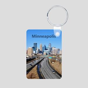 Minneapolis_8X13_Skyline Aluminum Photo Keychain