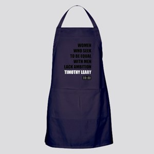 Timothy Leary Women Quote Apron (dark)