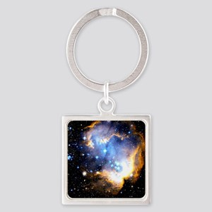 Star Cluster Square Keychain