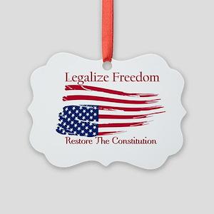 Legalize Freedom, Restore the Con Picture Ornament