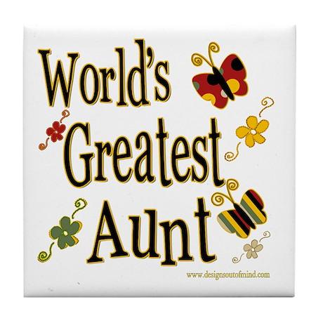 Aunt Butterflies Tile Coaster