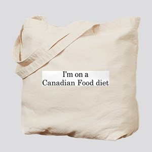 Canadian Food diet Tote Bag