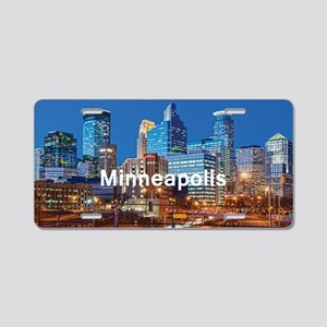 Minneapolis_5x3rect_sticker Aluminum License Plate