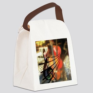 Violin in Abstract Artwork Design Canvas Lunch Bag