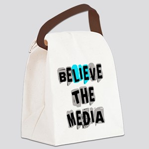 Believe the Media - LIE Canvas Lunch Bag