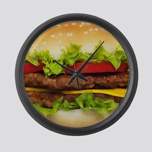Burger Me Large Wall Clock