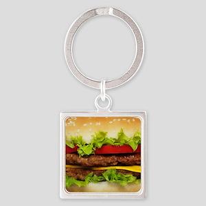 Burger Me Square Keychain