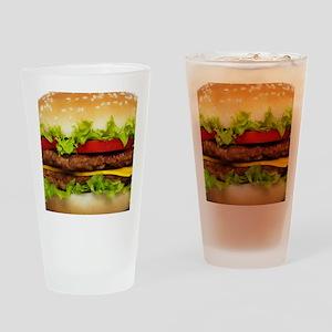 Burger Me Drinking Glass