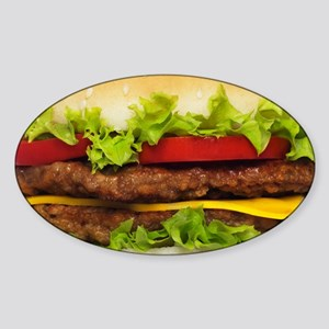 Burger Me Sticker (Oval)