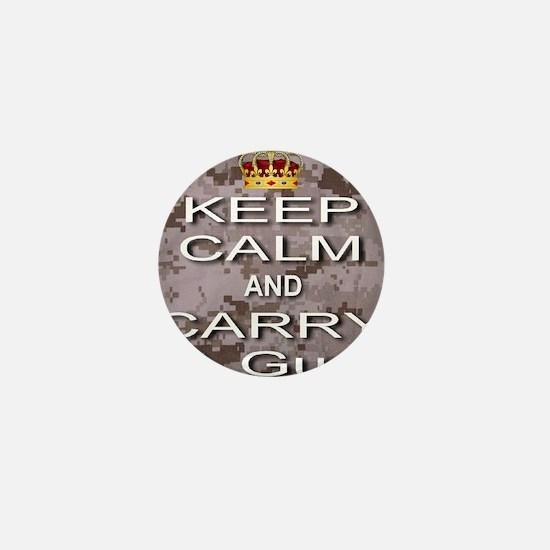 Keep Calm and Carry A Gun Mini Button