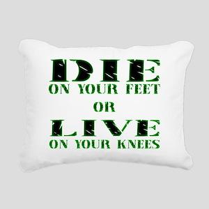 Die or Live Green Rectangular Canvas Pillow