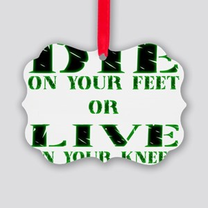 Die or Live Green Picture Ornament