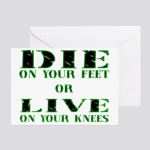 Die or Live Green Greeting Card