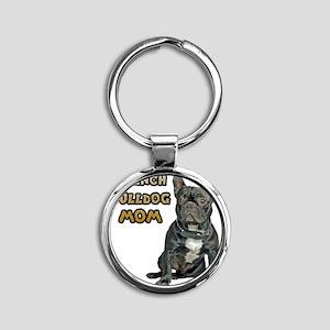 French Bulldog Mom Round Keychain