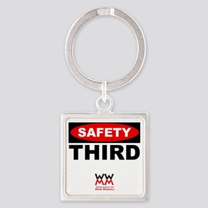 Safety Third Square Keychain