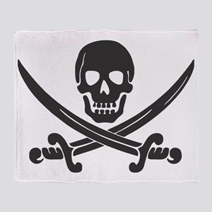 Pirate Black Throw Blanket