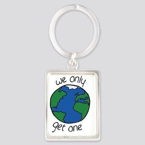 one earth Portrait Keychain