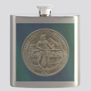 Fort Vancouver Half Dollar Coin  Flask