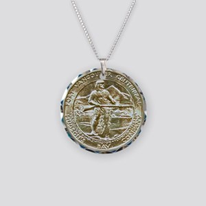 Fort Vancouver Half Dollar C Necklace Circle Charm
