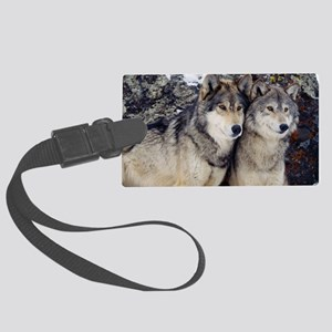 Wolf Couple Large Luggage Tag
